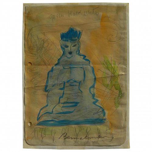 "LUDWIG BEMELMANS (1898-1962) color drawing by ""Madeline"" illustrator"