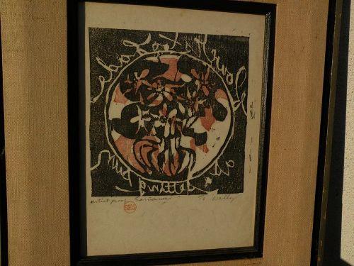 SUEO SERISAWA (1910-2004) original signed woodblock print by Japanese-American artist