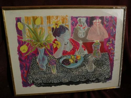 EMILIO GRAU-SALA (1911-1975) pencil signed and numbered color lithograph by major Spanish artist