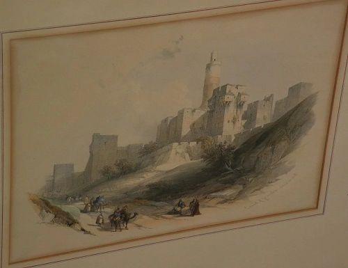 DAVID ROBERTS (1796-1864) **PAIR** original 19th century Orientalist art lithograph prints
