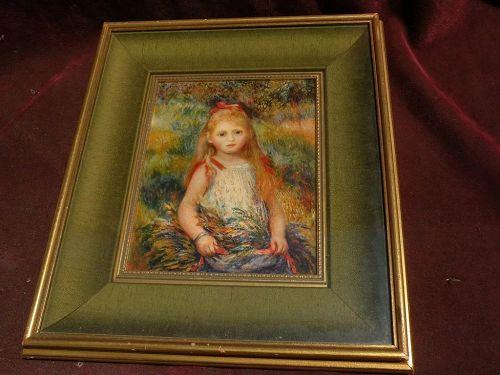 """PIERRE AUGUSTE RENOIR (1841-1919) framed print """"La Fillette a la Gerbe"""" 1888"""