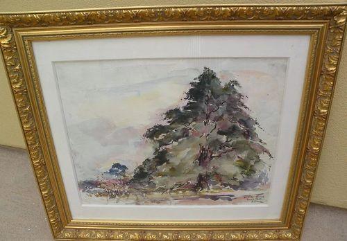JOSEPH RAPHAEL (1869-1950) Impressionist major European and California artist watercolor painting