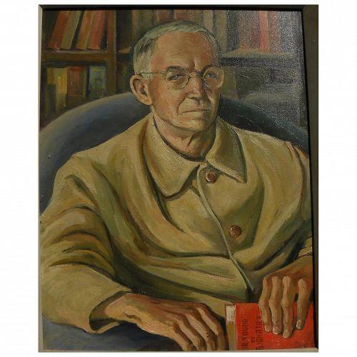 ALEXANDER IGNATIEV (1913-1995) portrait painting by listed Russian-born California artist