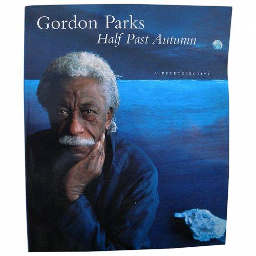 "GORDON PARKS (1912-2006) famous African-American photographer **signed** 1997 book ""Half Past Autumn: A Retrospective"""