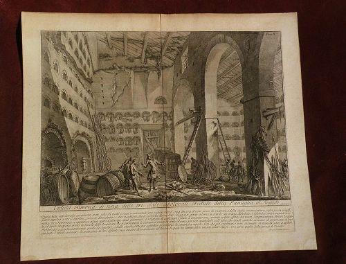 GIOVANNI BATTISTA PIRANESI (1720-1778) 18th century Italian etching Veduta print