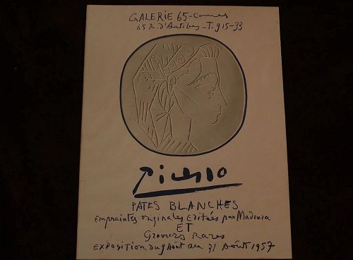 PABLO PICASSO (1881-1973) limited edition 1957 lithograph poster