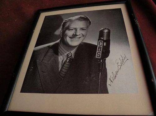 Hollywood memorabilia NELSON EDDY possibly secretarial signature signed black & white photo circa 1940's
