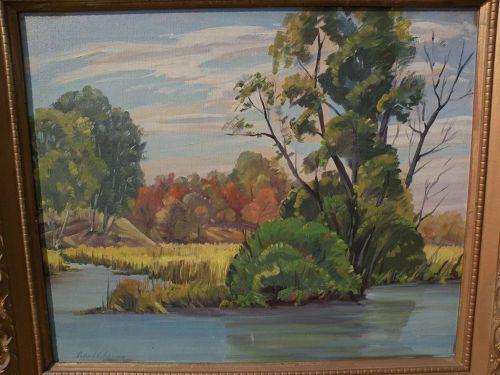 RICHARD V. JOHNSON (1905-2001) California plein air art landscape painting