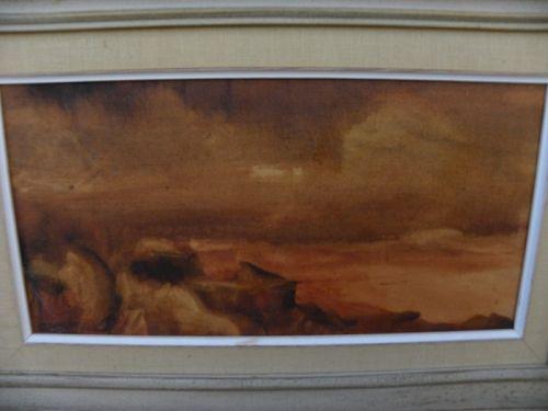 RITA SHULAK (1947-) California art signed coastline study