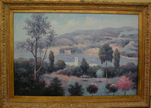 Contemporary French art attractive impressionist landscape painting
