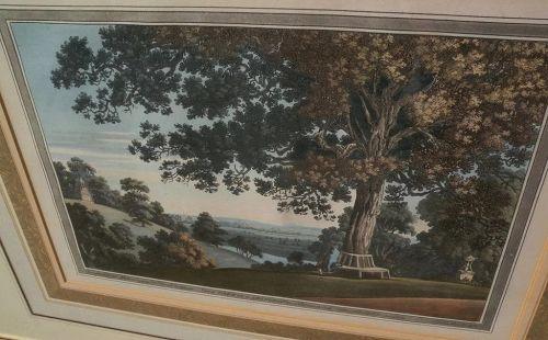 JOSEPH FARINGTON (1747-1821) **PAIR** fine aquatint engravings of English landscape scenery nicely framed