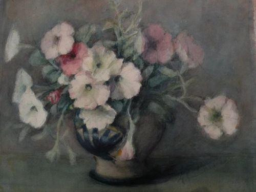 American art early 20th century watercolor still life painting signed