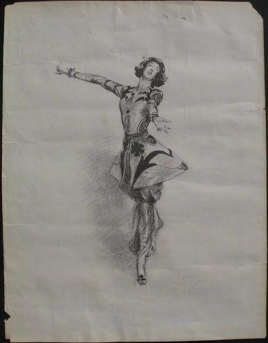 After JOHN SINGER SARGENT (1856-1925) circa 1920 lithograph print Gloria Vanderbilt Whitney on fine watermarked paper