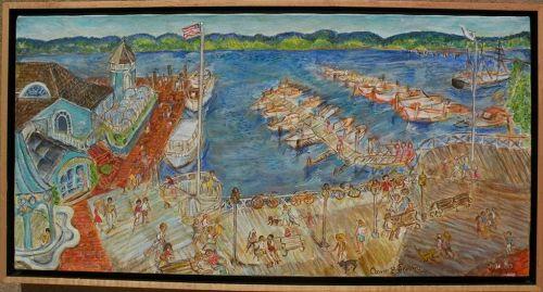 ANNE B. LANDRY whimsical impressionist Potomac River landscape painting