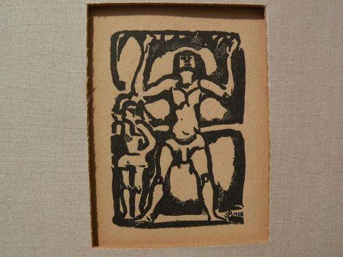 "GEORGES ROUAULT (1871-1958) French art woodblock print ""Jongleur"""
