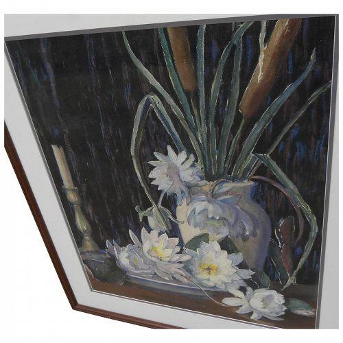 LONA MILLER KEPLINGER (1876-1956) fine watercolor still life painting