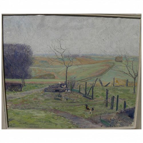 OTTO MARX (1887-1962) German impressionist rural landscape painting dated 1912