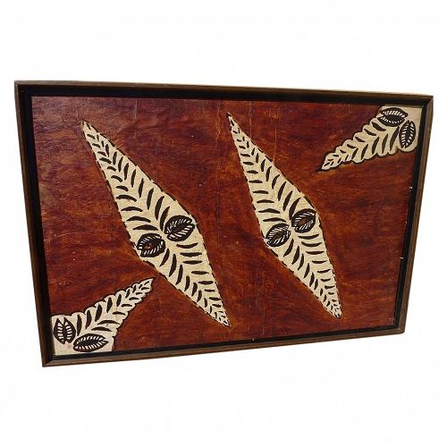 South Pacific islands tapa cloth painting�
