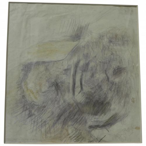 CZOBEL BELA (1883-1976) signed drawing by major Hungarian 20th century artist