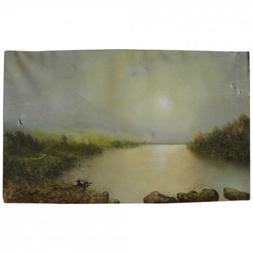 GEORGE DOUGLAS BREWERTON (1827-1901) luminous pastel landscape drawing by noted American artist