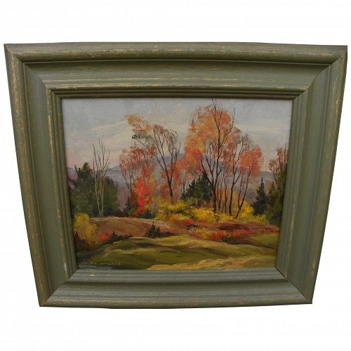 VIVIAN WALKER (1903-1972) Canadian impressionist art autumn landscape painting