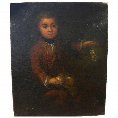 Old master 18th century painting of a young prince possibly Spanish