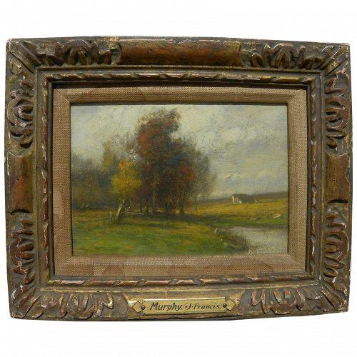 JOHN FRANCIS MURPHY (1853-1921) American impressionist painting by Tonalist master artist