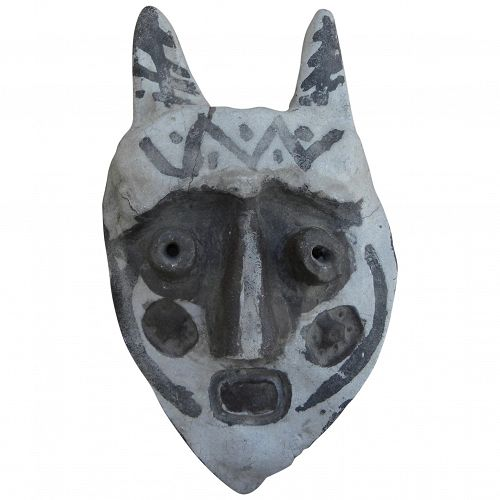 Vintage unsigned Picasso style ceramic mask