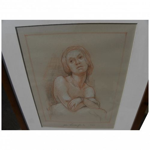 Contemporary fine pencil sepia drawing in Old Master style by noted California artist JOHN BROWNFIELD