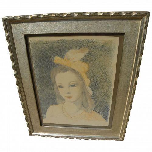 "MARIE LAURENCIN (1885-1956) French 20th century art original 1949 lithograph ""Sainte Catherine"""