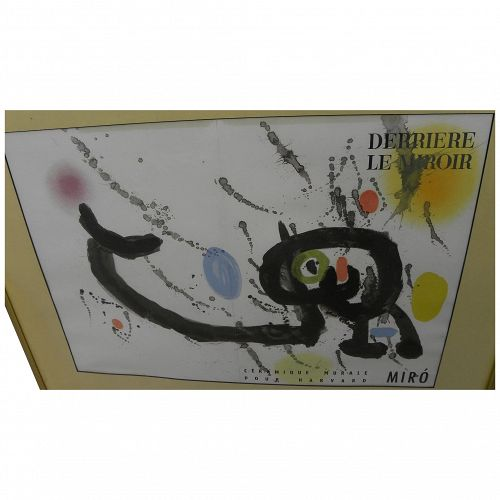 "JOAN MIRO (1893-1983) original double-page color lithograph ""Ceramique Murale Pour Harvard"" 1961"