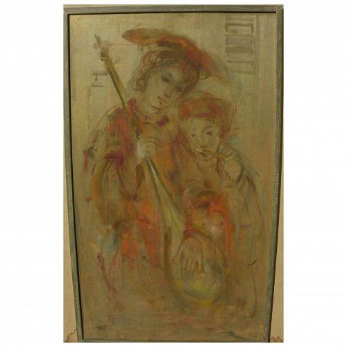 EDNA HIBEL (1917-2015) original painting by world-renowned American artist