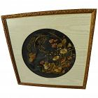Decorative Victorian needlework fragment nicely framed