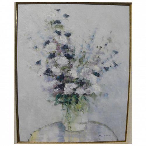 PAUL MATHENIA (1946-) impressionist still life painting California art