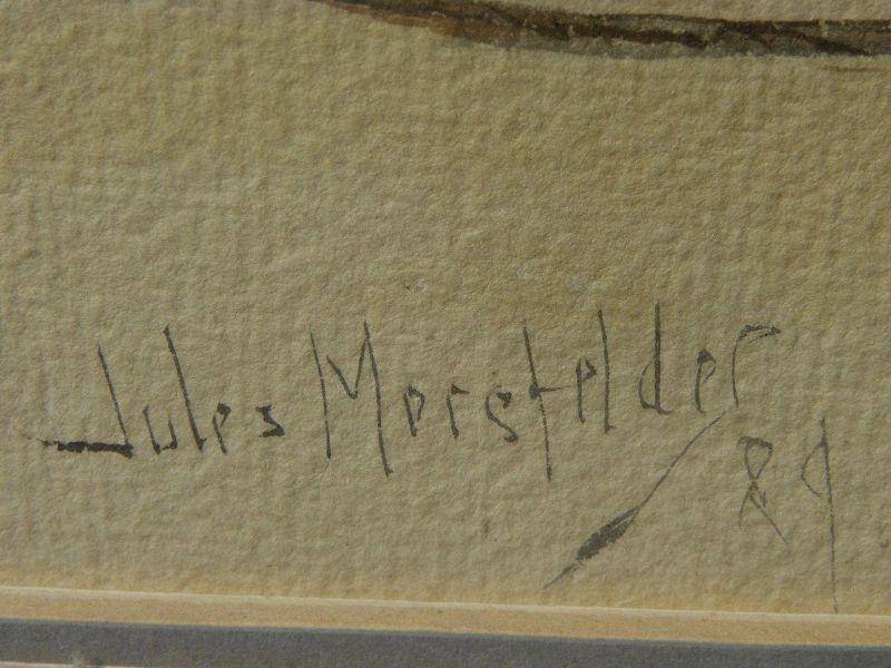 JULES MERSFELDER (1865-1937) **pair** watercolor paintings of coast scenes by noted early California artist