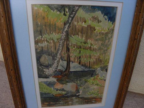 HOWARD B. SMITH  watercolor California painting