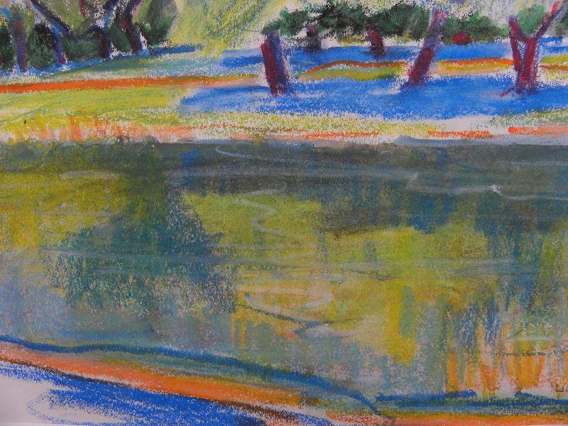 "MARION ""MAL"" LEWIS (1925-2010) landscape drawing Montana woman artist"