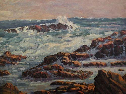 Marine art impressionist American coastal painting