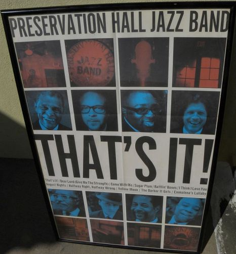 Preservation Hall Jazz Band poster New Orleans Louisiana