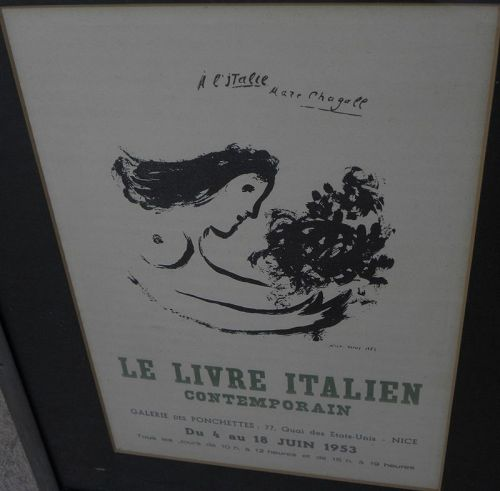 MARC CHAGALL (1887-1985) vintage gallery flyer