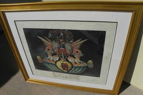 SALVADOR DALI (1904-1989) signed print Les Diners de Gala 1970's