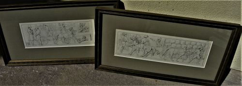 CONRAD WEITBRECHT (1796-1836) PAIR early German drawings classical
