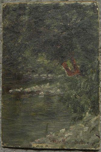 ALICE MEUSSDORFFER (1871-1949) California creek landscape painting