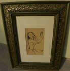 CARL HOFER (1878-1955) German  Expressionist art woodblock print 1921