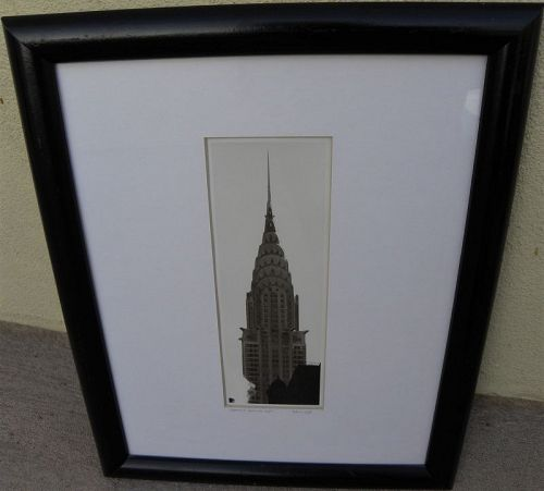 MICHAEL MAGILL (1956-) signed photograph Chrysler Building New York