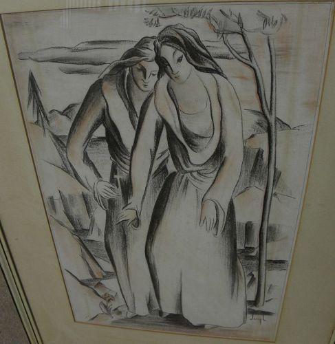 JOSEPH SHERIDAN (1897-1971) California modernist circa 1940 drawing