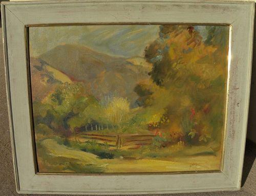 MYRON NUTTING (1890-1972) California vintage landscape painting art