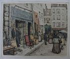 T  FRANTISEK SIMON (1877-1942) Paris print Czech artist signed