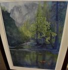 California watercolor painting of Yosemite by contemporary artist