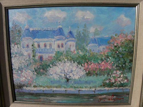 JOHN CLYMER (1932-) impressionist painting landscape in spring
